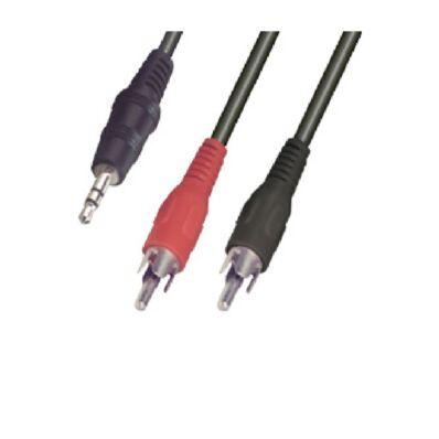 Ilustrație: Cablu audio mufă stereo 3,5 mm - 2 x mufe RCA