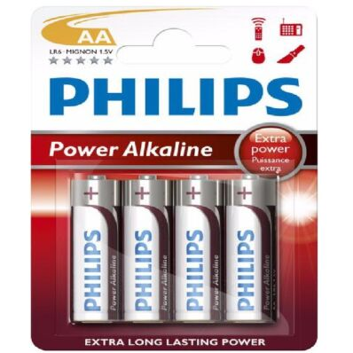 Ilustrație: Baterie tip creion Philips AA (1,5V) alkalină durabilă
