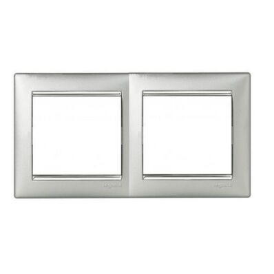Ilustrație: Ramă aluminiu argintie dublă VALENA
