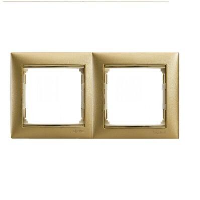 Ilustrație: Ramă dublă VALENA auriu mat