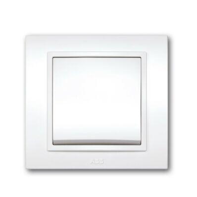 Ilustrație: ABB DUET întrerupător alternativ alb cu ramă 639010200209