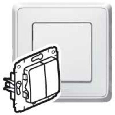 Ilustrație: Cariva intrerupator dublu ST alb fara rama 773605