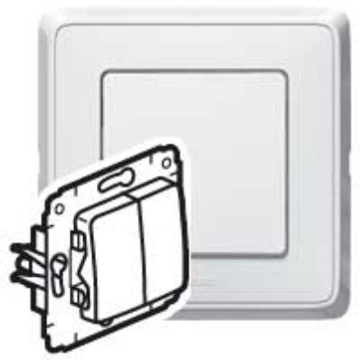 Ilustrație: Cariva intrerupator alternativ dublu alb fara rama 773608