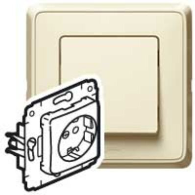 Ilustrație: Cariva priza ST cu CP ivoar fara rama 16A 250V 773720