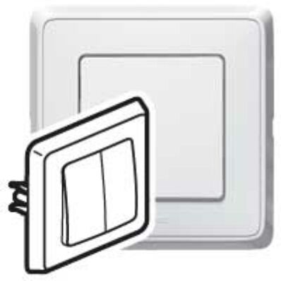 Ilustrație: Cariva intrerupator dublu ST alb monobloc 773805