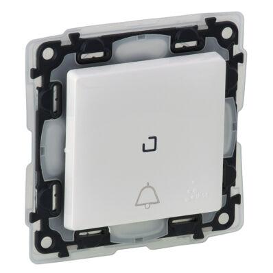 Ilustrație: Buton inversor cu lumina de control si pictograma, IP44, borne aut., 6A, alb