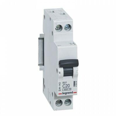 Ilustrație: Disjunctor RX3 MCB 1P+NL C20 4500A  1 MOD