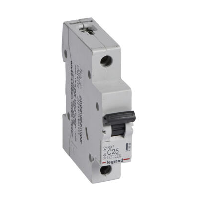 Ilustrație: Disjunctor RX3 MCB 1P C25 4500A