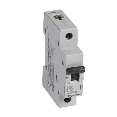 Ilustrație: Disjunctor RX3 MCB 1P C6 4500A