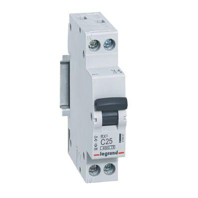 Ilustrație: Disjunctor RX3 MCB 1P+NL C25 4500A  1 MOD