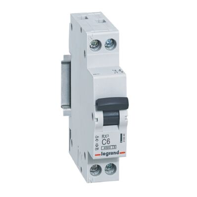 Ilustrație: Disjunctor RX3 MCB 1P+NL C6 4500A 1MOD