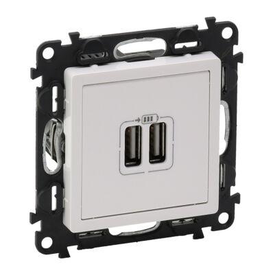 Ilustrație: Incarcator USB dublu, 5V, 1500mA, alb