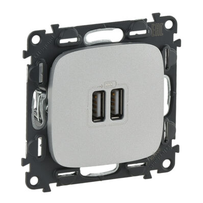 Ilustrație: Incarcator USB dublu, 5V, 1500mA, aluminiu, VA