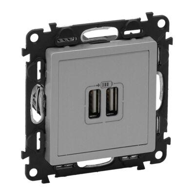 Ilustrație: Incarcator USB dublu, 5V, 1500mA, aluminiu