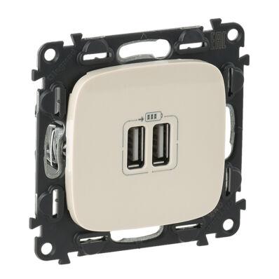 Ilustrație: Incarcator USB dublu, 5V, 1500mA, ivoar, VA