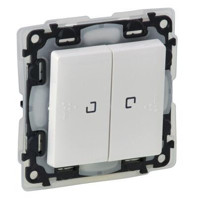 Ilustrație: Intr. cap-scara dublu cu lumina de control, IP44, borne aut., LED, 10AX, alb