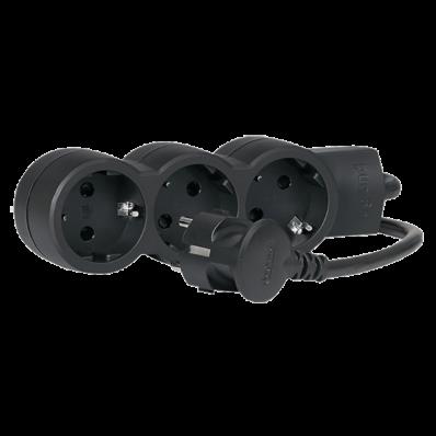 Ilustrație: Bloc Multipriza Mobil 3x2P+T Cablu 3m negru