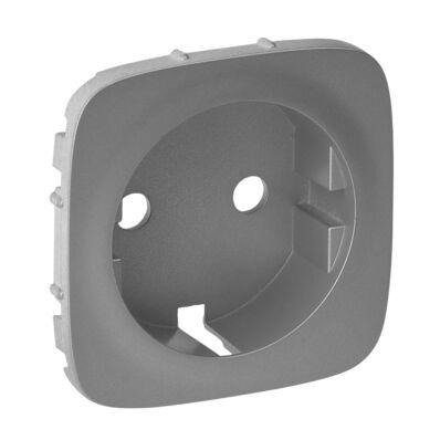 Ilustrație: Placa VA pt priza 2P+T, aluminiu