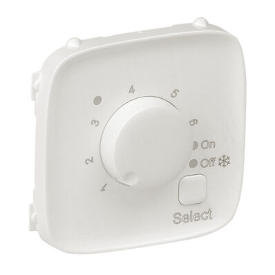 Ilustrație: Placa VA pt termostat incalzire pardoseala, alba perlata