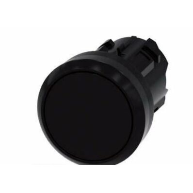 Ilustrație: Siemens Pushbutton, 22 mm, round, plastic, black, pushbutton, flat, momentary contact type