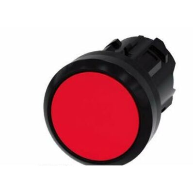 Ilustrație: Siemens Pushbutton, 22 mm, round, plastic, red, pushbutton, flat momentary contact type