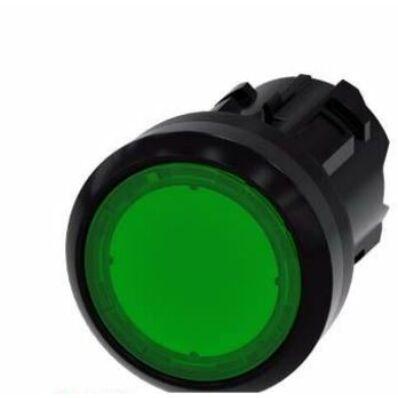 Ilustrație: Siemens Illuminated pushbutton, 22 mm, round, plastic, green, pushbutton, flat, latching, Push-to-release mechanism