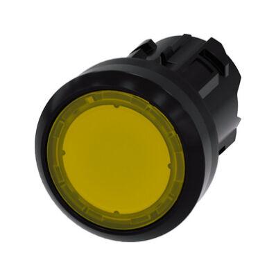 Ilustrație: Siemens Illuminated pushbutton, 22 mm, round, plastic, yellow, pushbutton, flat momentary contact type