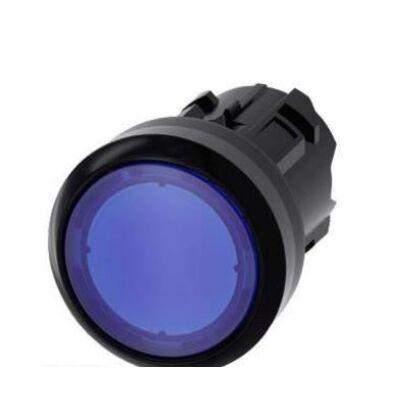Ilustrație: Siemens Illuminated pushbutton, 22 mm, round, plastic, blue, pushbutton, flat momentary contact type