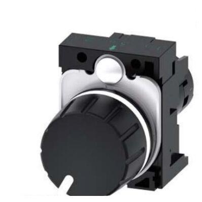 Ilustrație: Siemens Potentiometer, compact, 22 mm, round, plastic, black, 10k ohm, with holder, screw terminal