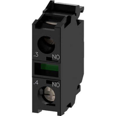 Ilustrație: Siemens Contact module with 1 contact element, 1 NO, screw terminal, for front plate mounting