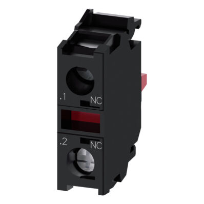 Ilustrație: Siemens Contact module with 1 contact element, 1 NC, screw terminal, for front plate mounting