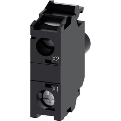 Ilustrație: Siemens LED module with integrated LED 24 V AC/DC, green, screw terminal, for front plate mounting
