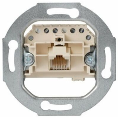 Ilustrație: Siemens UAE connection socket Cat. 3, 1x 8-pole with inclined outlet RJ11/12/45 with screw-type terminals for screw/claw fixing unshielded, for DELTA programs