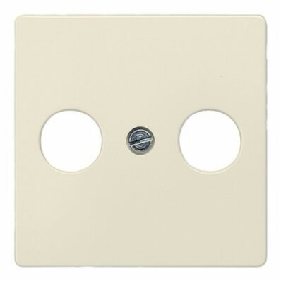 Ilustrație: Siemens DELTA i-system electrical white antenna cover plate 55x 55 mm for broadband connection socket RF/TV