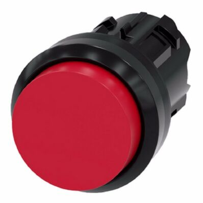 Ilustrație: Siemens Pushbutton, 22 mm, round, plastic, red, pushbutton, raised, momentary contact type