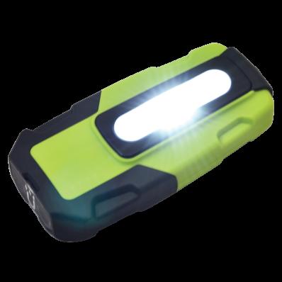 Ilustrație: Lanternă LED cu acumulator, cu încărcare USB; 2/2 W, 6000K, 3,7V, 1800mAh, 200 lm, IP44, 3 h